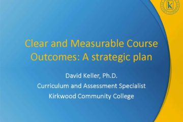 Clear and Measurable Course Outcomes: A strategic plan
