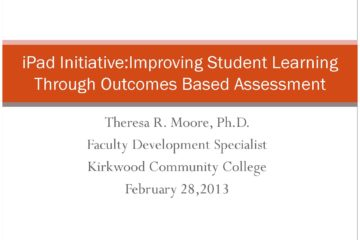 Outcomes-based Assessment