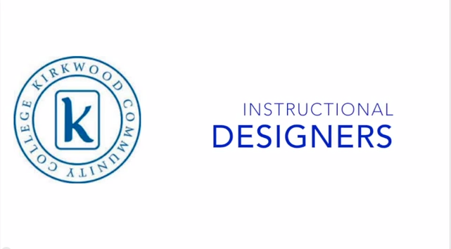 Instructional Designers title