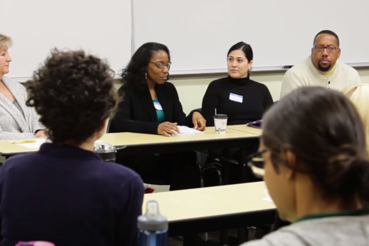 Panel of minority faculty speaking at Collaborative Learning Days