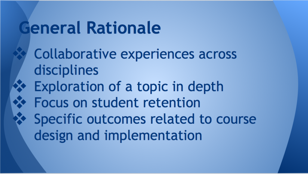 Rationale for the reading circles include collaboration, exploration, and focus on student success